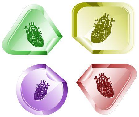 Heart. Vector sticker. Stock Vector - 6846859