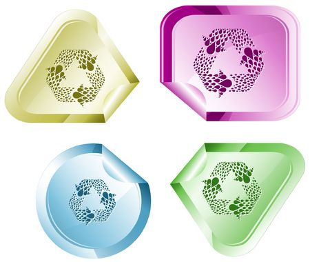 Recycle symbol. Vector sticker. Stock Vector - 6846872
