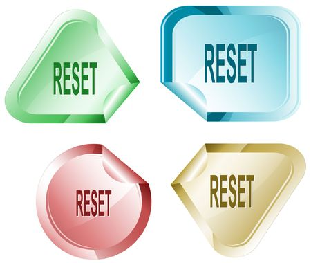 disabling: Reset. Vector sticker.