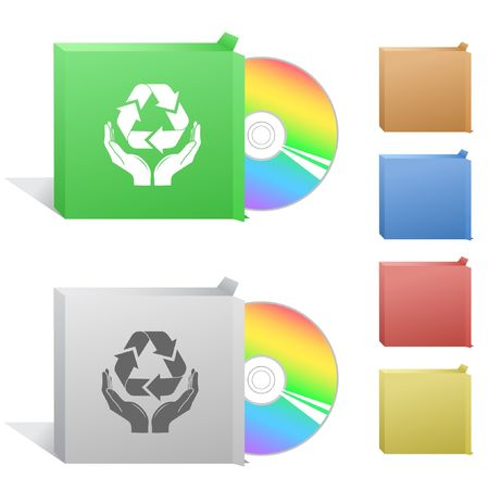 compact disc: Protection nature. Box with compact disc.