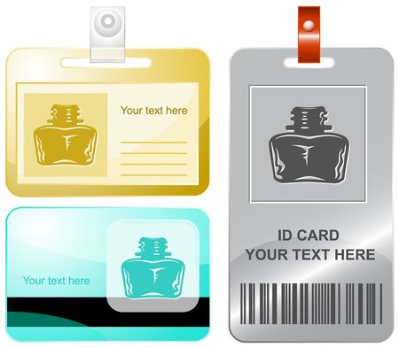 inkstand: Inkstand. id cards.