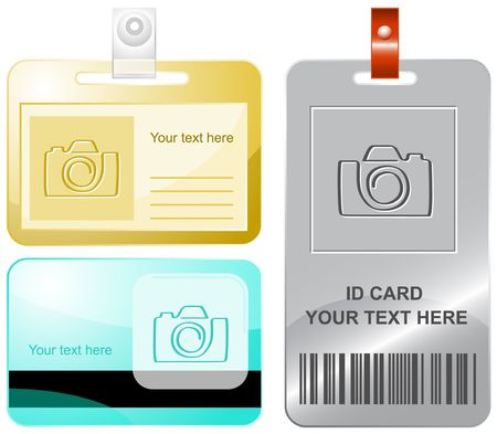 Camera. id cards. Vector