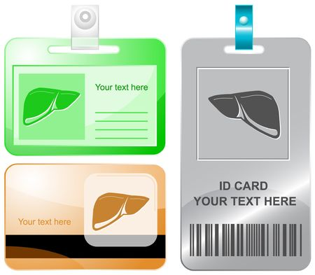 Liver.  id cards. Stock Vector - 6857529