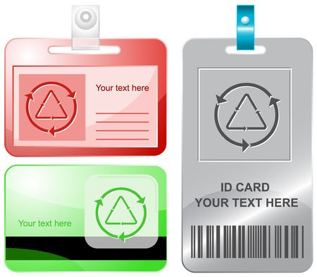 Recycle symbol. id cards. Stock Vector - 6858285