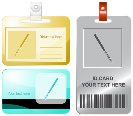 ruling: Ruling pen.  id cards.