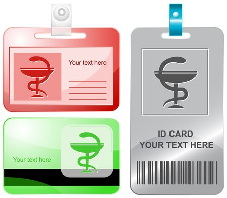 Pharma symbol. id cards. Stock Vector - 6858287