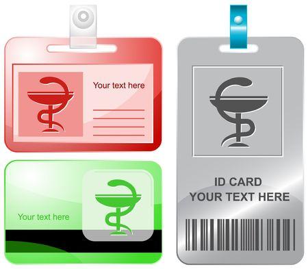 Pharma symbol. id cards. Vector
