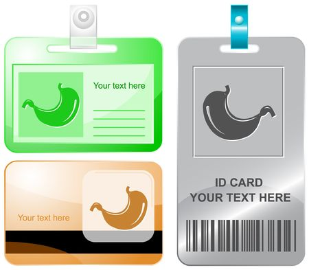Stomach.  id cards. Stock Vector - 6858277