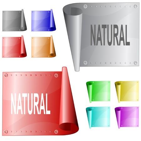 Natural.  metal surface. Stock Vector - 6863016