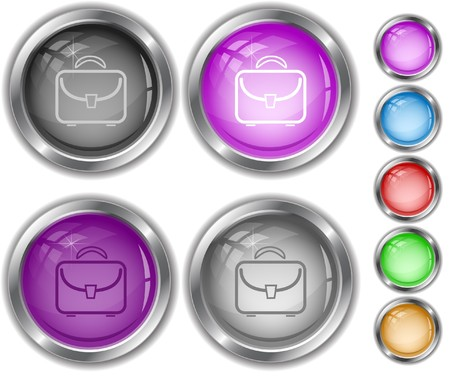 Briefcase.  internet buttons. Stock Vector - 6986044