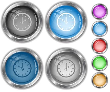 Clock.  internet buttons. Stock Vector - 6986048