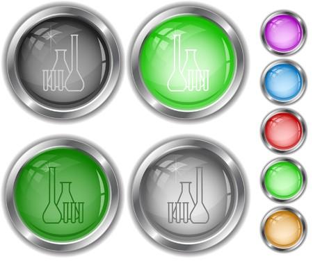 kunststoff rohr: Chemische Reagenzgl�ser. Internet-Schaltfl�chen.