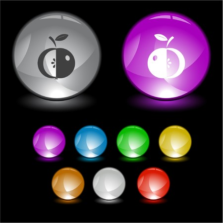 Apple.  interface element. Stock Vector - 6986022
