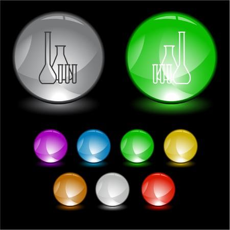 kunststoff rohr: Chemische Reagenzgl�ser Element der Benutzeroberfl�che.  Illustration