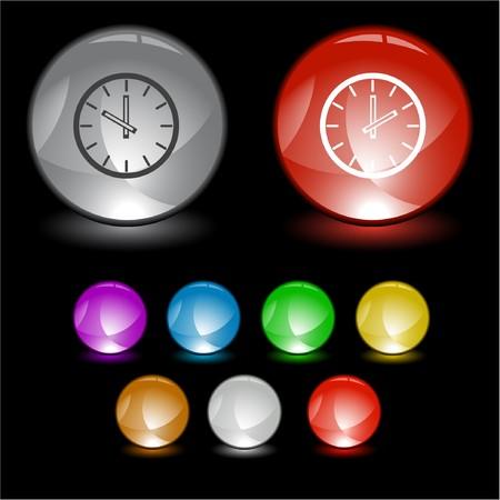 Clock.  interface element. Stock Vector - 6986232