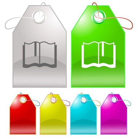 Book.  tags. Stock Vector - 6986192