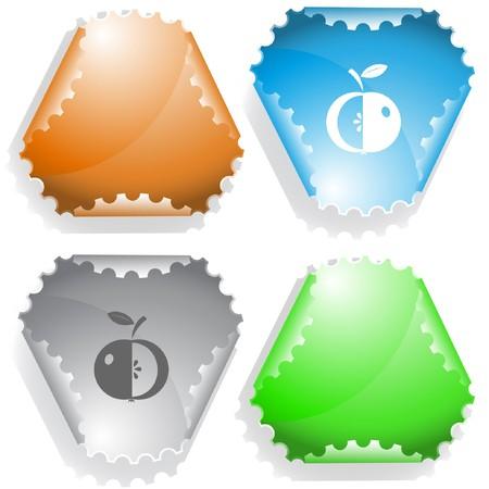 Apple. sticker.