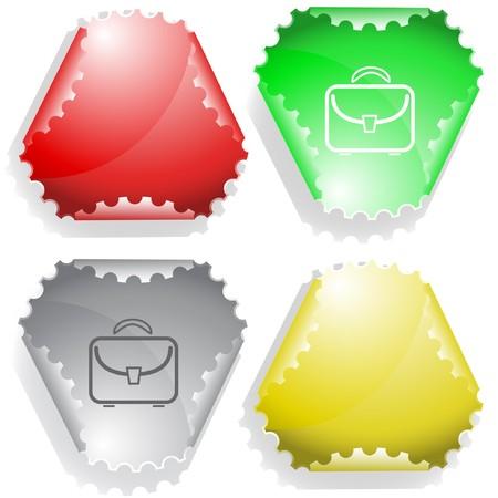 hamous: Briefcase.  sticker. Illustration