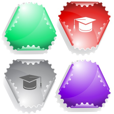 hamose: Graduation cap.  sticker.