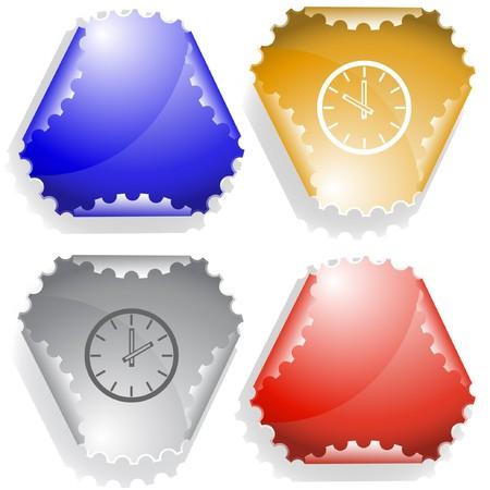 declinate: Clock.  sticker.