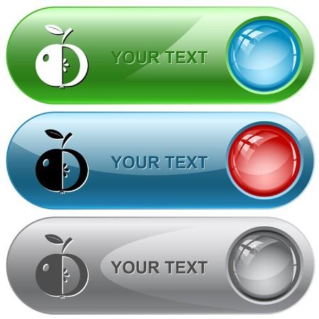 www tasty: Apple. internet buttons.