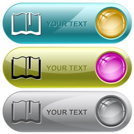 Book.  internet buttons. Stock Vector - 6986172