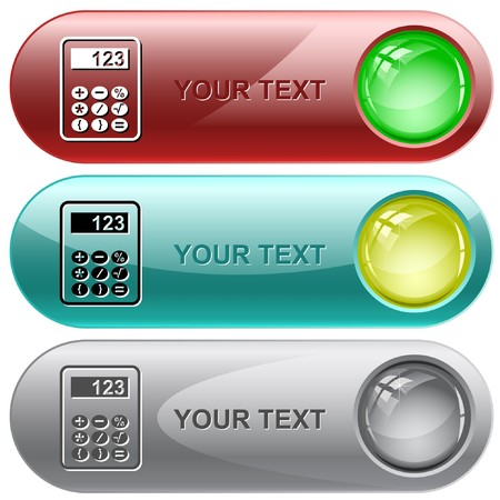 click icon: Calculator. internet buttons. Illustration