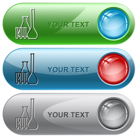 laboratory test: Chemical test tubes.  internet buttons.