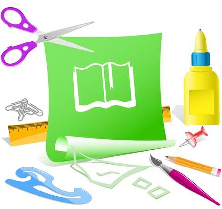 pva: Book. paper template.