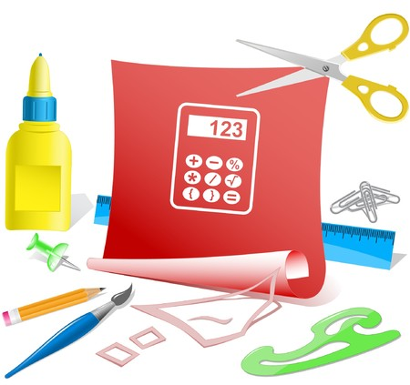 Calculator.  paper template. Stock Vector - 6986097