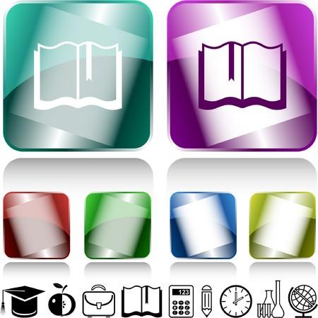 Book. internet buttons. Vector