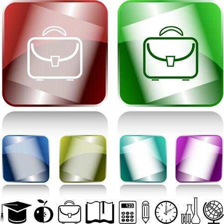 Briefcase. internet buttons. Stock Vector - 6986056