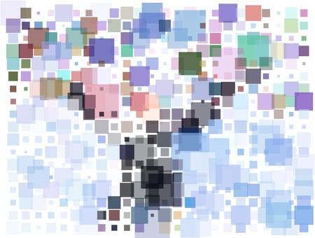 ドットの抽象的な背景  イラスト・ベクター素材