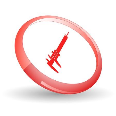 Caliper. Vector icon. Stock Vector - 7169849
