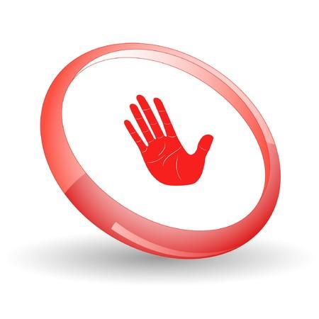 Stop hand. Stock Vector - 7170380