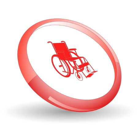 Invalid chair.  Stock Vector - 7170409