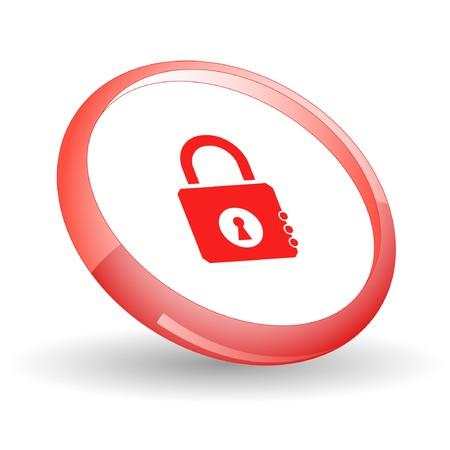 closed lock: Closed lock.  Illustration