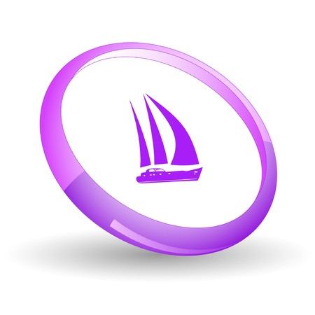 Yacht.  Stock Vector - 7170257