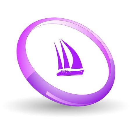 deportes nauticos: Yate.  Vectores