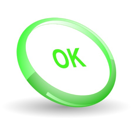 Ok.  Stock Vector - 7170013