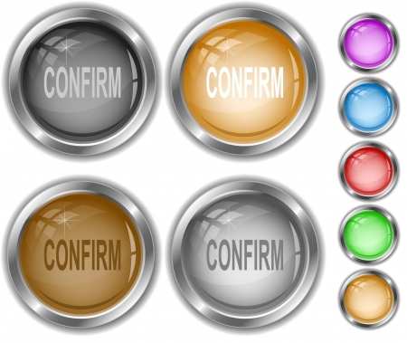 Confirm internet buttons. Stock Vector - 7177499