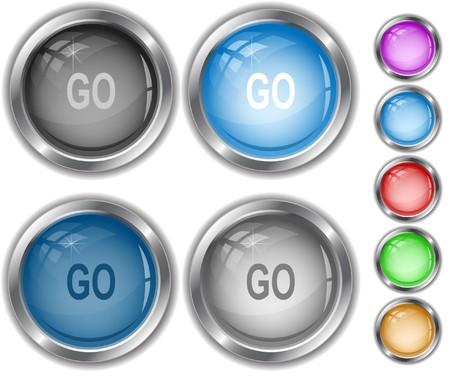 Go internet buttons. Stock Vector - 7177496