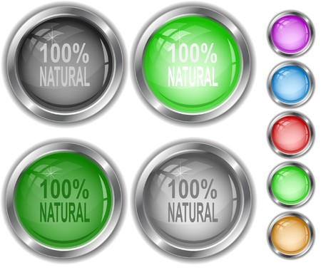 100% natural internet buttons. Vector