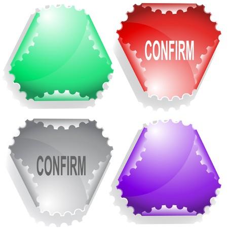 confirm: Confirm sticker.