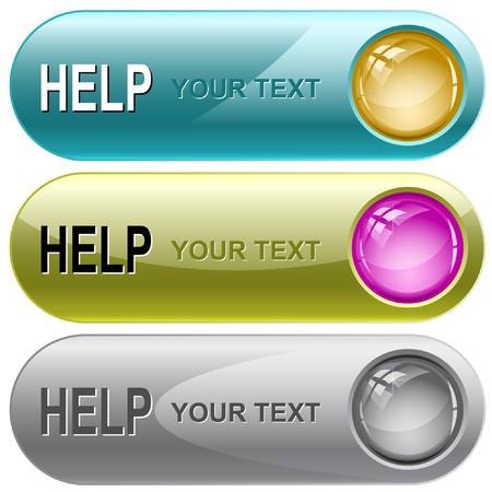 Help internet buttons. Stock Vector - 7176536