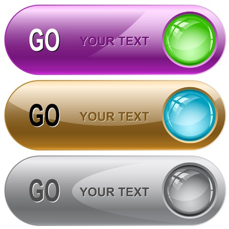 Go internet buttons. Stock Vector - 7176530