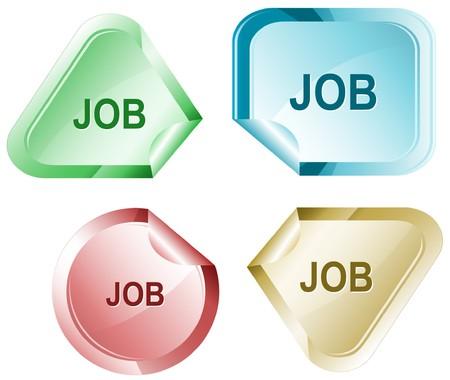 hamous: Job sticker. Illustration