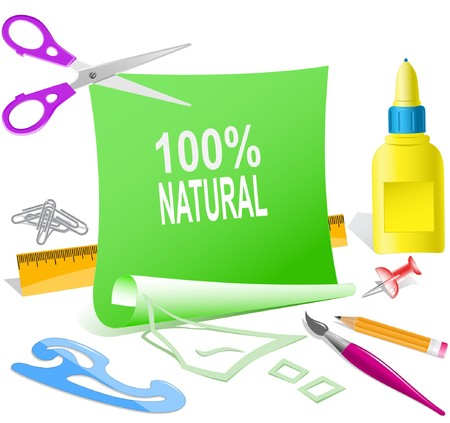 100% natural paper template. Stock Vector - 7177168