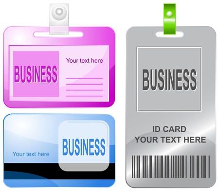 fiscal: Business id cards. Illustration