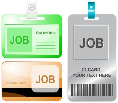 unemployment: Trabajo. tarjetas de identificaci�n.